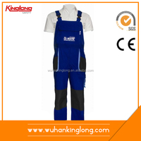 Manufacture Cotton Bib Overalls Buckle Cargo Pants Industrial Workwear