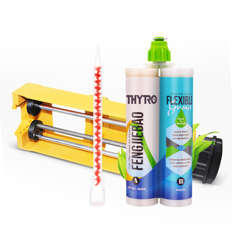 Good Quality Double Label Dual Component Caulking Gun Two Components Epoxy Resin Tile Grout <strong>Adhesive</strong>