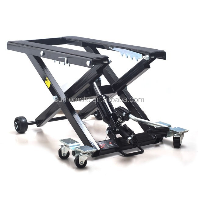 Universal Motorcycle Jack Scissor Hydraulic Lift, for 1000Lbs super bikes, cruisers