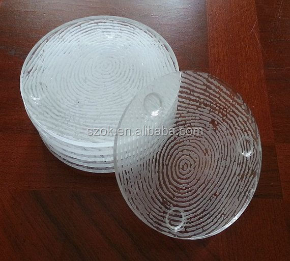 Round clear small acrylic coaster in Mats and Pads for sale