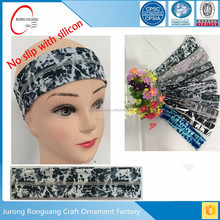 Custom Elastic Yoga polyester <strong>Headband</strong> with The silicone for Sport