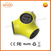 Portable unique shape 2500W Socket 5 holes Plug with Safety Shutter