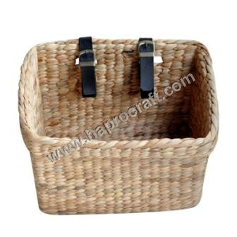 rectangle water hyacinth basket for bicycle ( HLB 1729)