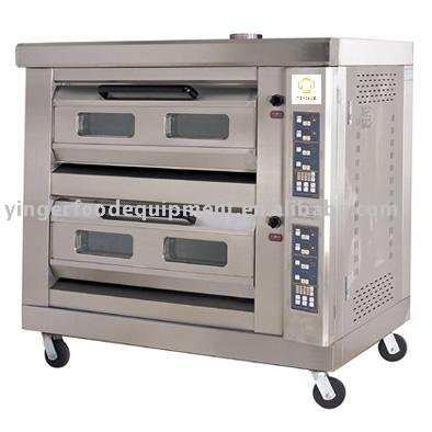 mobile Micro-computer double-layer four-tray gas oven