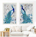 Resin diamond embroidery painting peacock rhinestone cross stitch picture