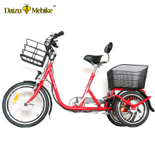 "Promotion 20"" 3 wheels adult electric tricycle 250W Bosch motor electric bicycle"