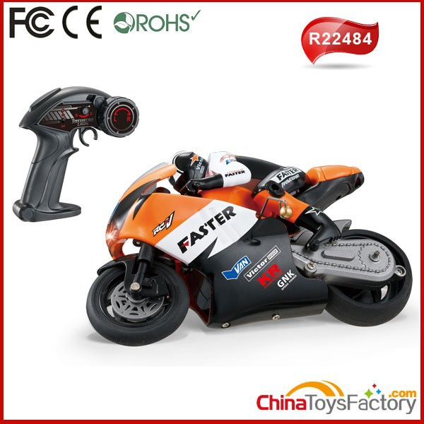 R22484 2.4G 4 Channel RC Drift Nitro Motorcycle 1 10 Scale RC Motorcycle