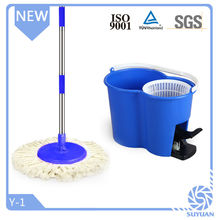 2012 New design microfiber spin mop 2015 with bucket