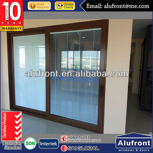 thermal break profile aluminum lift and sliding door with double glass built in blinds
