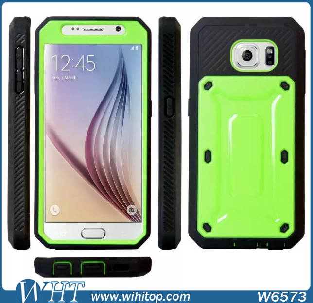 Luxury Shockproof Robot Style TPU PC Armor Case for Samsung Galaxy S6