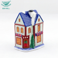 Hand painted multicolor christmas home decoration ceramic house