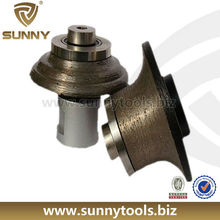 Silver brazed diamond profiling router bits for stone
