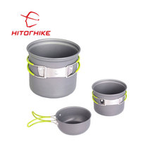 Hitorhike picnic bowl pot pan set 2 piece non stick cookware set/outdoor cookware/cookware set