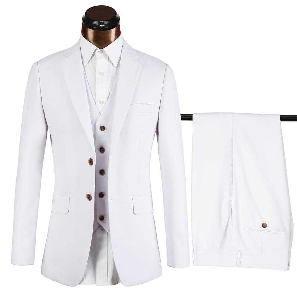 Custom Made White Men Suit,Bespoke Men Slim Fit Wedding Suit,Groom ...