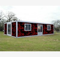 mobile with mixed color collapsible steel structure 40ft shipping container house