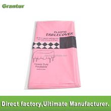 colorful Pink plastic table cloth water proof Disposable pe table cloth