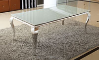 Stainless steel Modern dining table , glass dining table , marble dining table