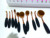 10pcs Toothbrush Make Up Brushes Kit Private Label Rose Gold Oval Makeup Brush