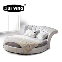 hotel love couple round bed set furniture C003