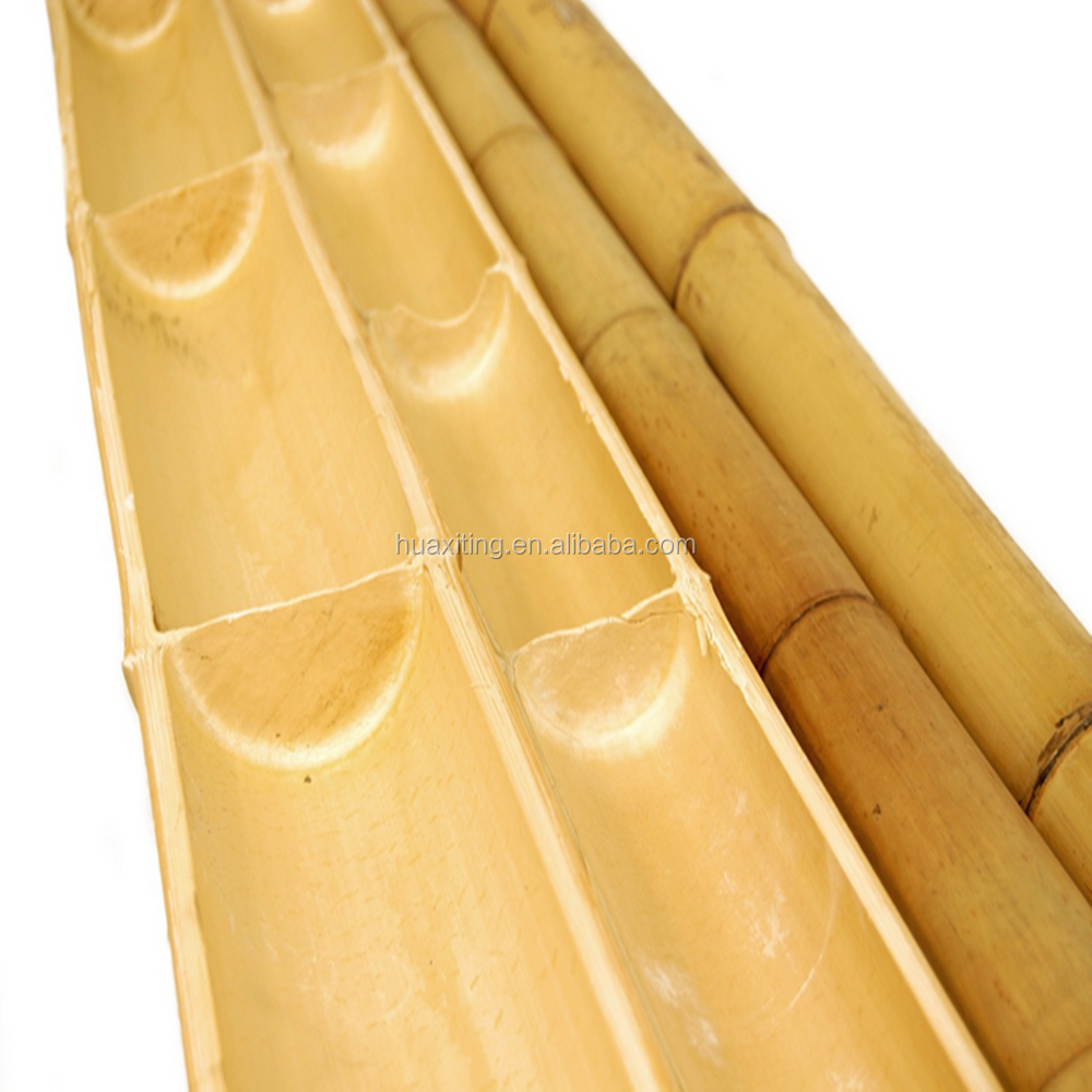 White bamboo sticks of half round buy for