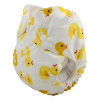 Wholesale yellow cloth baby diaper with Duckling