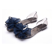 2017 New Model Women Crystal Shoes Plastic Shoes Jelly Flat Sandals