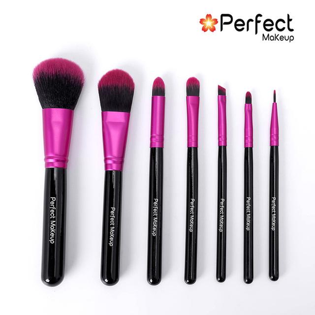 7pcs new style cherry red brush high quality portable makeup kabuki brush set
