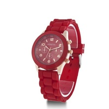 Silicone large wrist women watch colors girls jelly wrist watches clock ladies gift