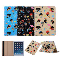 High Quality cartoon type 360 degree rotating leather flip smart cover case for ipad 9.7 2017