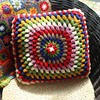 Handmade crochet car seat sofa wholesale cushion for outdoor patio furniture