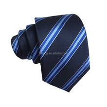 2018 new fashion mens wholesale striped polyester woven necktie
