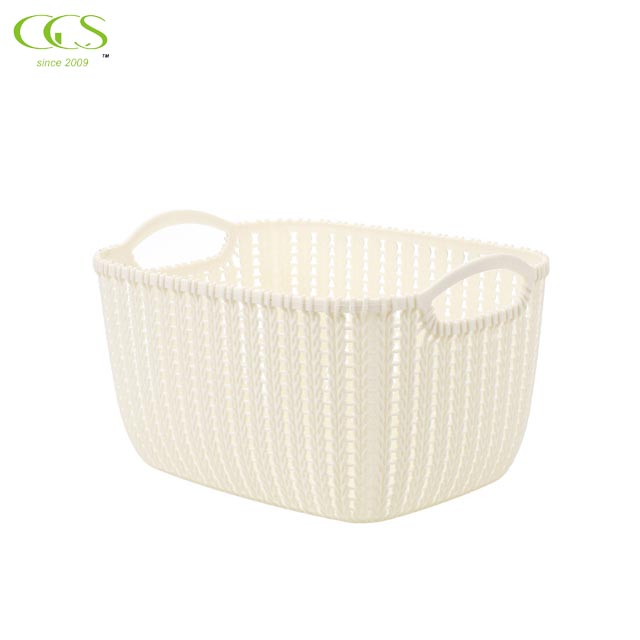 Rattan Table Top Storage Basket Plastic Hollow Storage Basket Kitchen Snack Storage Box Bathroom Bath Basket