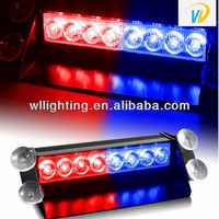 Brand new 18 LED Strobe Flash Fire Deck Dash Blink LED Lights 3 flashing modes RED / BLUE RED WHITE Amber Hot sale