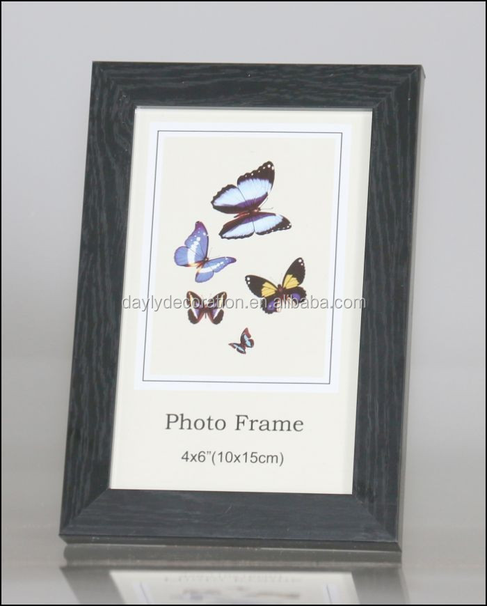 PVC mickey mouse photo frame with wood color finishing