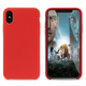 Scratch-Resistant Microfiber Cloth Lining Cushion Liquid Silicone Phone Case For iPhone X
