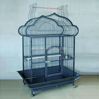 Rolling Macaw Cage, Parrot Bird House, Large Door Grille Birds Habitat