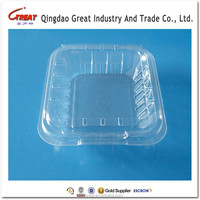 Clear PET Plastic Disposable Fruit Packing Container with Lid