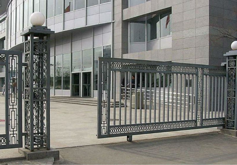 Modern house main gate design sliding gate design buy for Modern main gate designs