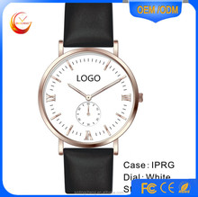 Alloy Watches Stainless Steel 316L Genuine Leather Ladies Watches Custom LOGO Watch