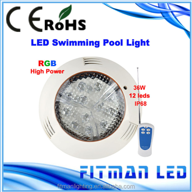 12W led swimming pool light IP68 12V Outdoor Lighting RGB led Underwater Lighting pond