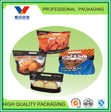 CUSTOM plastic slide zipper hot chicken bags/roasted chicken bag/bread packaging bags
