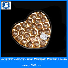 2014 newest customize design plsatic blister packaging 0.5mm chocolate PP tray for hot sell milk chocolate