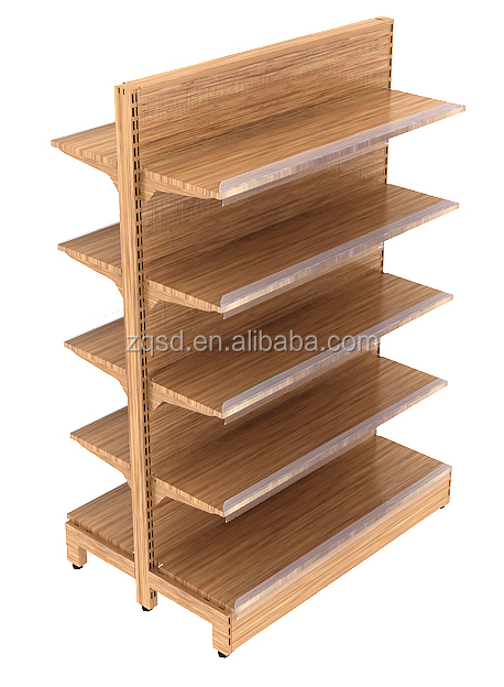 Woode Grain Supermarkt Rack