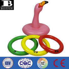 Promotional customized factory OEM pvc inflatable pink flamingo animals toy kids summer party beach pool kids water game