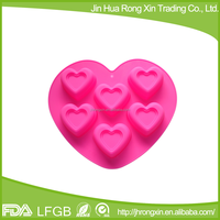 Heart shaped silicone chocolate mould