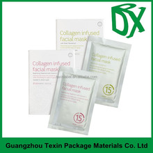 TEXIN Top class aaa facial mask bags with custom printing