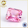 export to Thailand pink fat square cut Wuzhou cubic zircon CZ stone for woman