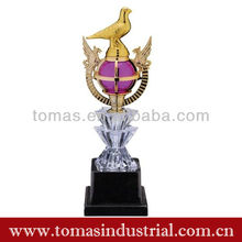 Unique imitation gold plated award souvenir trophy