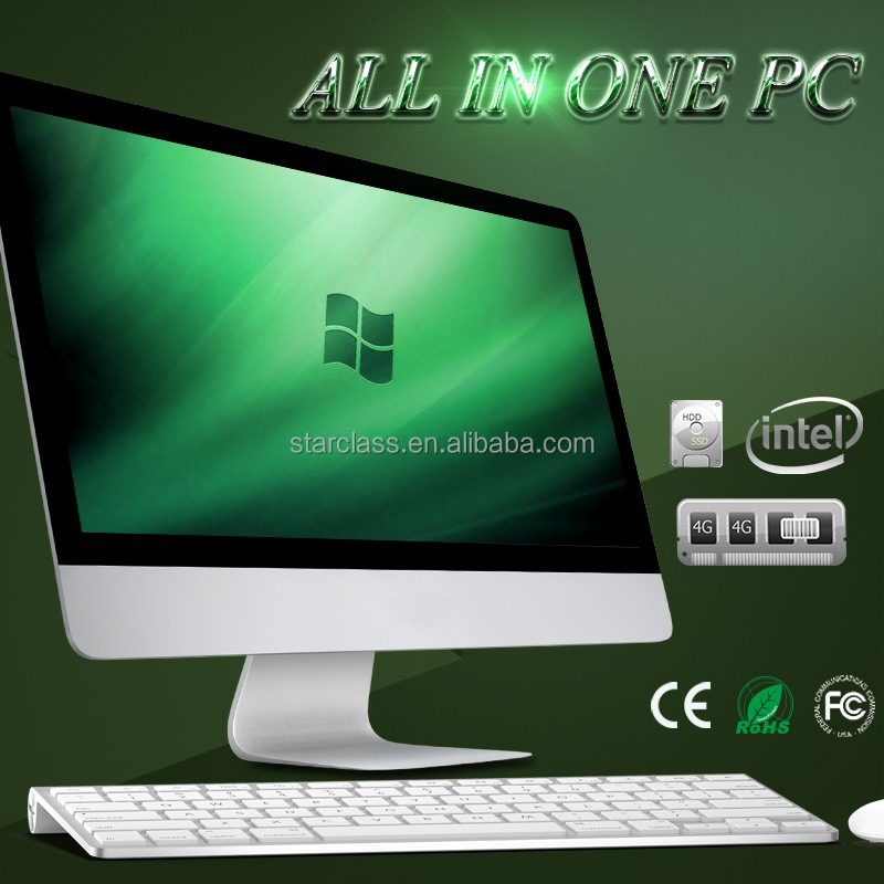 New slim desktop computer J1900 cpu lcd monitor