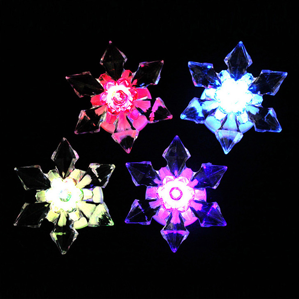 Christmas Clear Crstal acrylic LED flashing snowflake